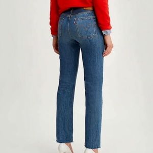 Levi's 501 High Rise Button Fly Jeans